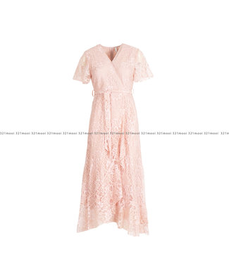 Loved by MIRACLES Loved by MIRACLES kledij - long pink lace dress - ACDRESS010004