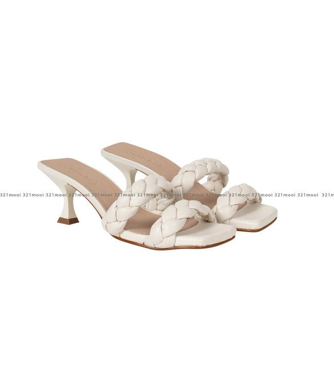 MARCH23 MARCH23 schoenen - sandalen Mid heel mule  - Aurole - Ivory Leather