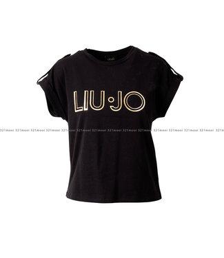 LIU JO LIU JO kledij - t-shirt JERSEY COTONE STRETCH CA1099-J5003 - 22222