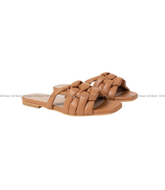 MARCH23 MARCH23 schoenen - slippers flat mule  - Claire B - Camel Leather