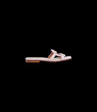 MARCH23 MARCH23 schoenen - slippers flat mule  - Luiza - Lila Croco