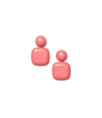 LAURENCE DELVALLEZ LAURENCE DELVALLEZ  - oorbellen LD - 210 Azul Earpost Pink