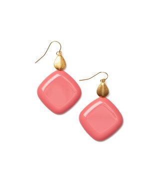 LAURENCE DELVALLEZ LAURENCE DELVALLEZ  - oorbellen LD - 209 Brisa Earhook Pink