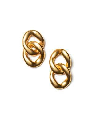 LAURENCE DELVALLEZ LAURENCE DELVALLEZ  - oorbellen LD - 120 Pyrite Earpost Gold