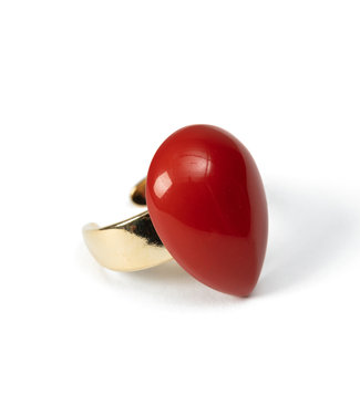 LAURENCE DELVALLEZ LAURENCE DELVALLEZ  - ring LD - 272 Ries Ring Coral
