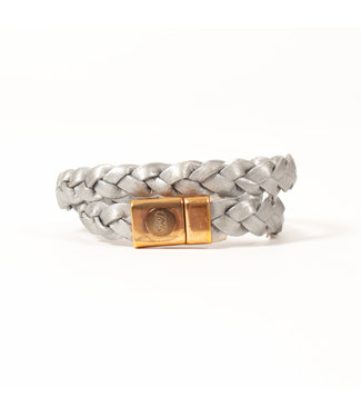 LAURENCE DELVALLEZ Laurence Delvallez oorbellen - armband flynn dubel grey - 9876789126009