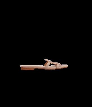 MARCH23 flat mule  - Luiza - Beige Leather