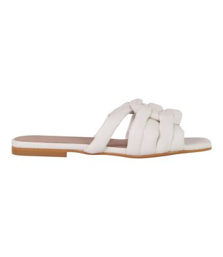 MARCH23 flat mule  - Claire B - ivory Leather