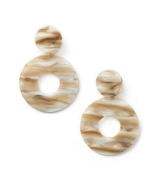 LAURENCE DELVALLEZ LD - 105 marble earpost beige