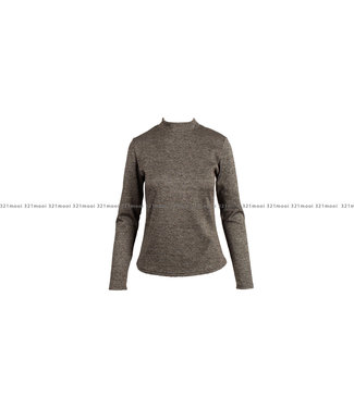 AC by Annelien Coorevits AC by Annelien Coorevits kledij t-shirt ACTOP10018 - bruine  pull ensemble rokje
