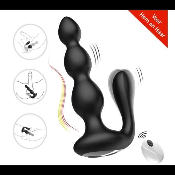 Easylove Stimulerende Anaal Vibrator met Dubbele Motor Draadloos