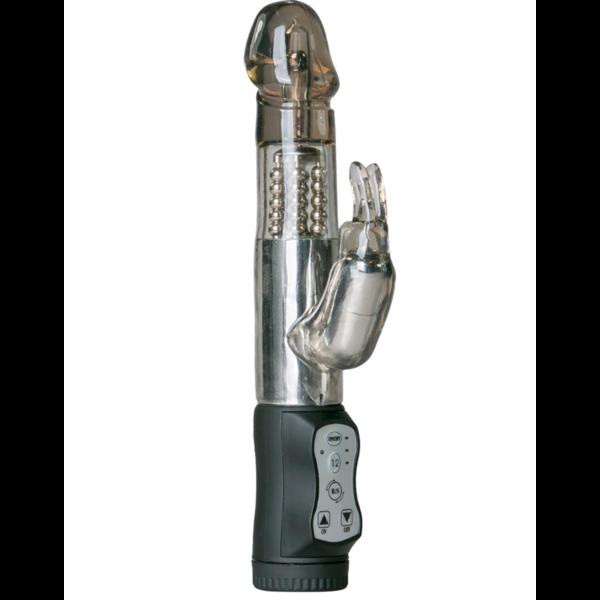 Easytoys Easytoys Zwarte Rabbit Parel Vibrator