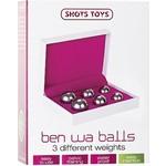Shots Ben Wa Vaginale Ballen Set met 3 Gewichten