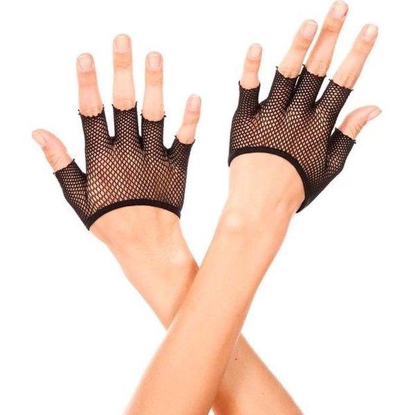 Music legs Korte Vingerloze Visnet Handschoenen