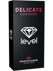 Level Level Delicate Condooms voor meer Gevoeligheid 10 stuks