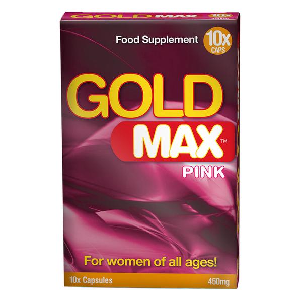 Gold Max Gold Max Pink Libido Stimulatie voor Vrouwen 10 stuks