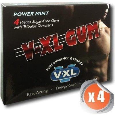 V-XL – Erectie Bevorderend Kauwgom 4 stuks