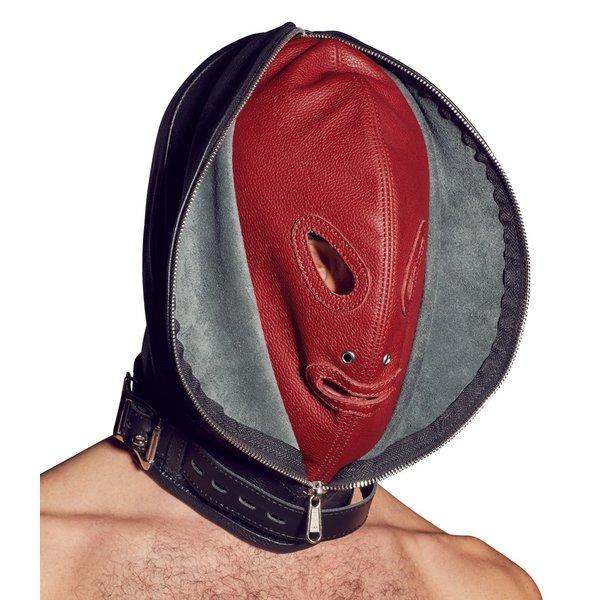 ZADO Leren Dubbele Masker met Openingen Verstelbaar
