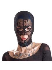 Bad Kitty Elegante Mesh Bondage Hoofd Masker met Borduursels