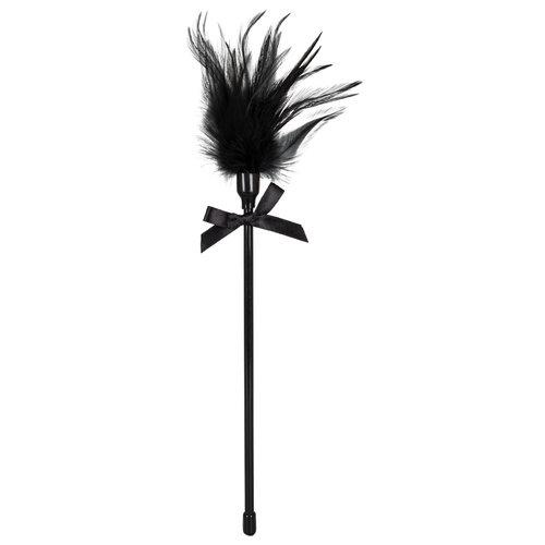 Bad Kitty Bad Kitty – Kietelaar met Mooie Strik en Zwarte Kunst Veer Elegant en Spannend – Zwart