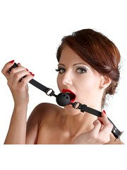 Bad Kitty Siliconen Ball Gag met Gaatjes en Gesp Sluiting Small