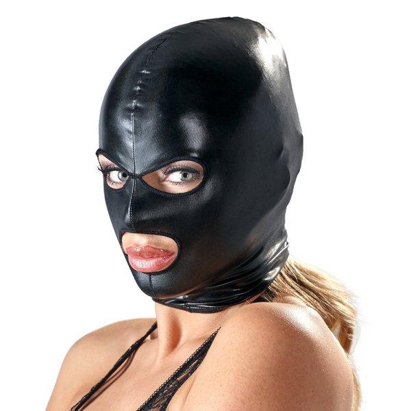 Bad Kitty  Bondage Masker Open Ogen en Mond Matte Wetlook