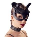 Bad Kitty Kunstlederen Hoofdmasker met Katten Oortjes