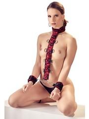 Bad Kitty Uitbreidbaar Bondage Harnas met Halsband en Polsboeien