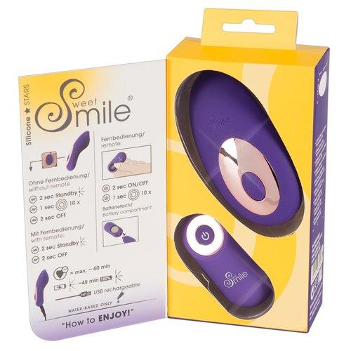 Sweet Smile Draadloze Clitoris Oplegvibrator voor Discreet Gebruik in alle Slipjes