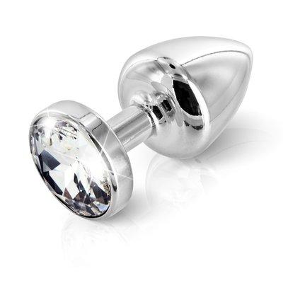 Metalen Buttplug T1 met Swarovski Kristal 6 cm