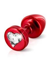 ANNI by Diogol Metalen Buttplug T1 met Harten Swarovski Kristal 6 cm