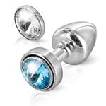 ANNI by Diogol Metalen Buttplug T1 met Magnetisch Swarovski Kristal 6 cm