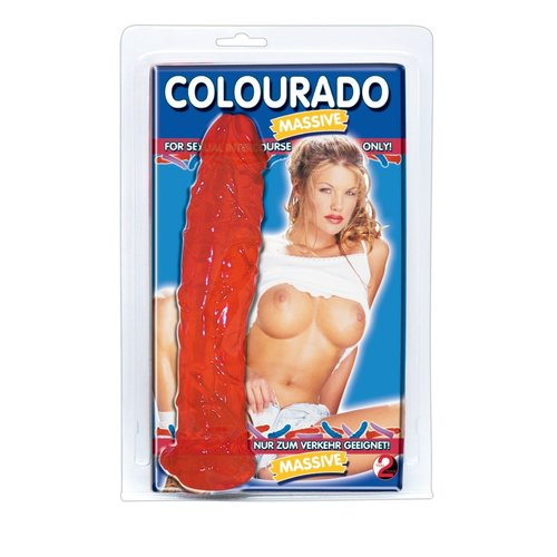 You2Toys Colourado Massive Dildo Flexibel en Geaderd