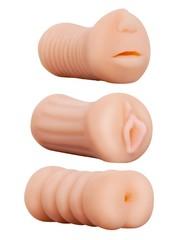 NMC Masturbator Set 3 Delig met Mond Vagina en Anus