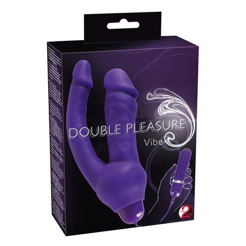 You2Toys Dubbel Plezier Vibrator voor Dubbele Penetraties
