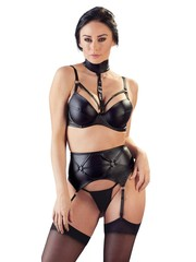 Cottelli Collection Lingerie Indrukwekkende Jarretel Wetlook Lingerie Set
