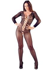 Mandy Mystery Lingerie Sexy Catsuit met Aangehechte Veters en Open Kruis