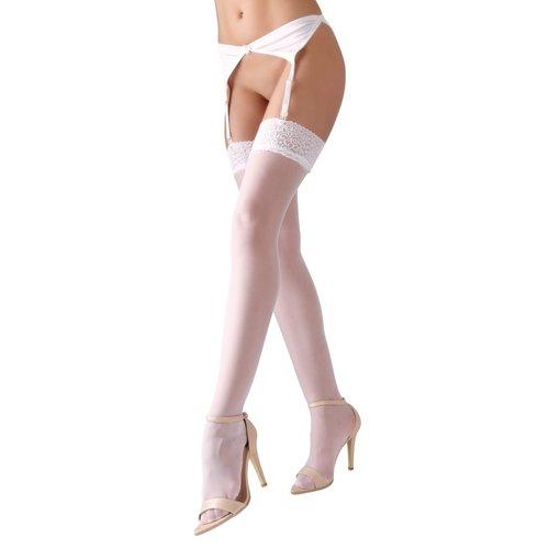 Cottelli Collection Stockings & Hosiery Jarretel Kousen met Sexy Motief