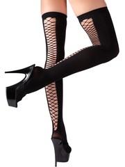 Cottelli Collection Stockings & Hosiery Net Kousen met Open Achterkant