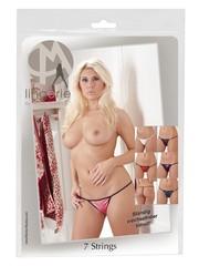 Mandy Mystery Lingerie Set van 7 Erotische Strings Satijn