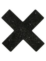Cottelli Collection Accessoires Glitter Tepel Stickers in Kruis Vorm Set van 2