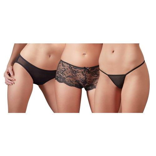 Cottelli Collection Lingerie 3 Delig Erotisch Ondergoed Set