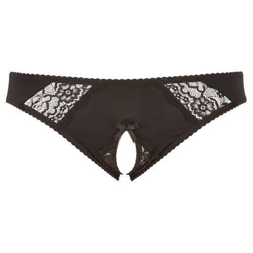 Cottelli Collection Plus Plus Size Erotische Slip met Open Kruis
