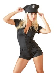 Cottelli Collection Costumes Sexy Politie Outfit met Politie Embleem