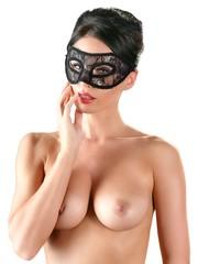 Cottelli Collection Accessoires Kanten Mesh Voorgevormd Masker