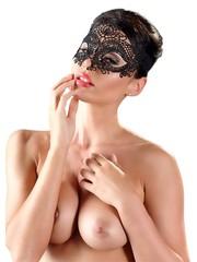 Cottelli Collection Accessoires Mesh Voorgevormd Masker