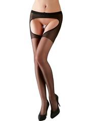 Cottelli Collection Stockings & Hosiery Spannende Panty met Open Kruis Ontwerp