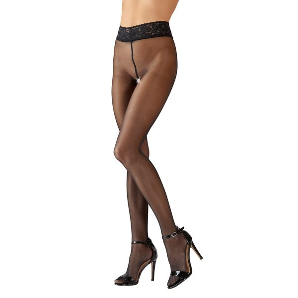 Cottelli Collection Stockings & Hosiery Maillot met Opwindend Open Kruis