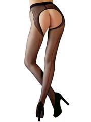 Cottelli Collection Stockings & Hosiery Provocerende Open Kruis Panty