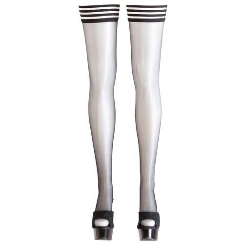 Cottelli Collection Stockings & Hosiery Cottelli Collection – Sensuele Kousen voor Gestreepte Look voor Ondeugende Uitstraling – Maat XS - Zwart